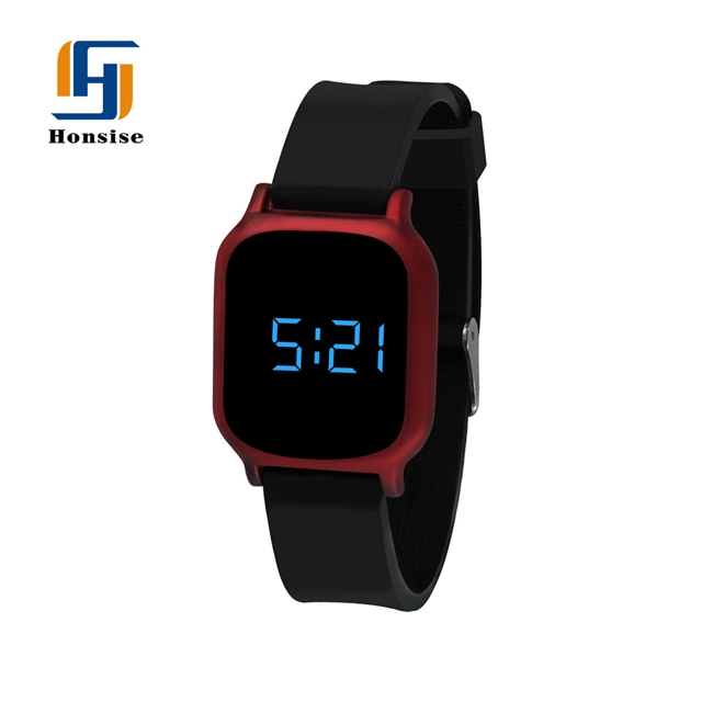 High Definition Display Water Proof Touch Screen Silicone Led Watch