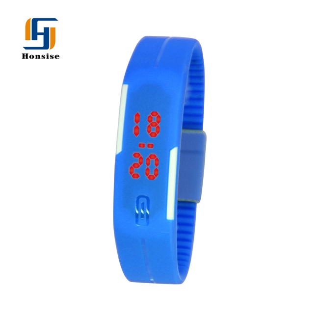 LED Electronic Silicone Watch odm Red Custom Watch Band Silicone Rubber Wristband Bracelet Watches