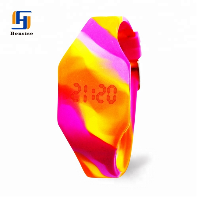 Fashion Mixed Color Silicone LED Hand Watch For kids & Children