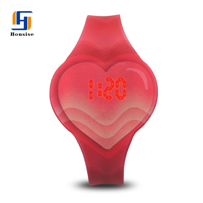 NEW China Pattern Printed Silicone LED Digital Watch For Kids