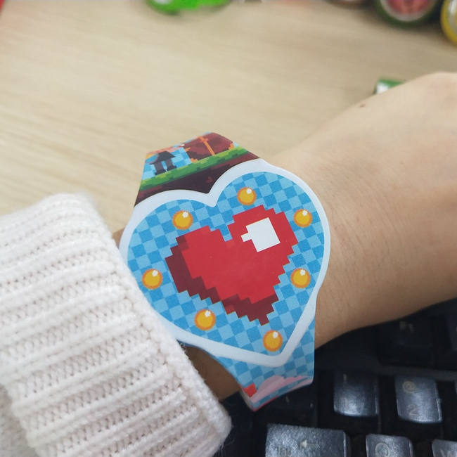 Promotion Gift Cheap LOVE Heart Silicone LED Digital Watches