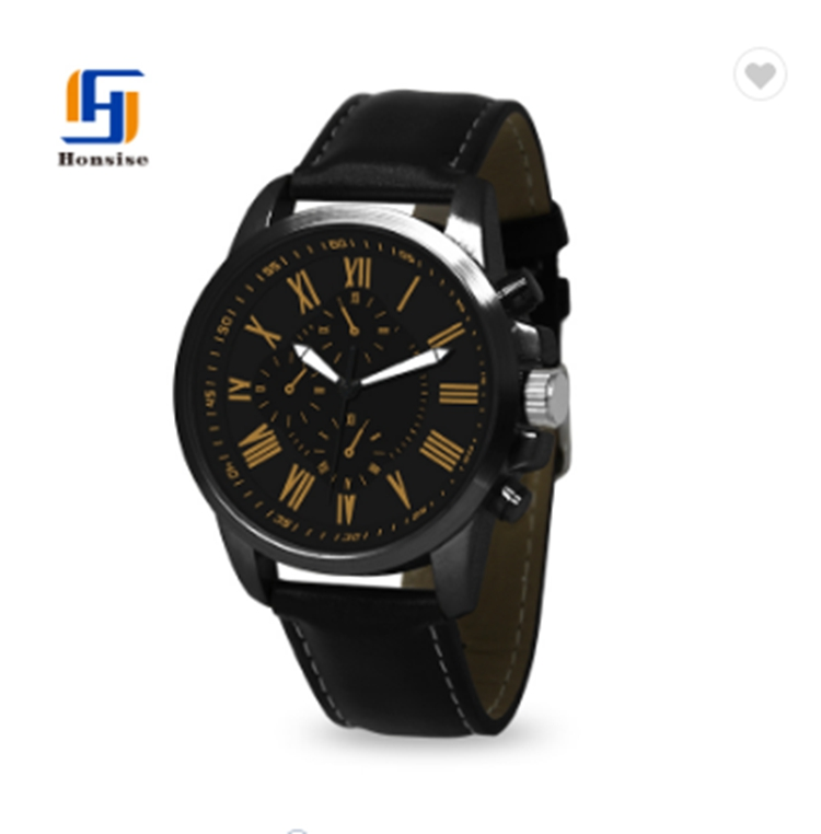 Luxury Quartz Casual Waterproof Sport Leather Watch for Men's