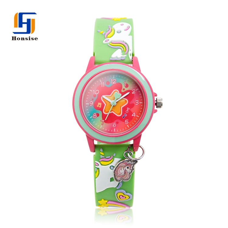 Colored Watch Strap girl and Boy Animal Interchangeable Fashion Silicone Band Watch Cartoon Kid Toy Watch