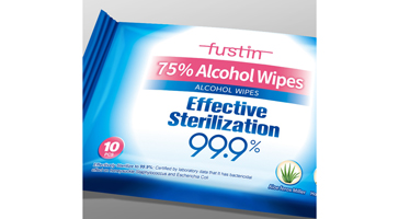 10pcs 75% Alcohol Wet Wipes