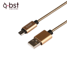 Durable cotton braided USB to Micro USB Charge and SYNC cable 1m for smartphone