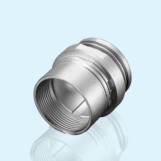 Professional OEM zinc alloy die casting chrome plated Connector shell
