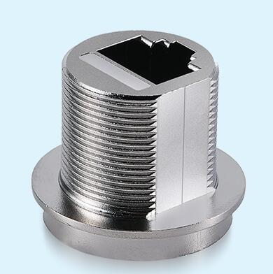 RJ 45 Male Screw Housing ZnAl4Cu1 Zinc Die Casting Parts