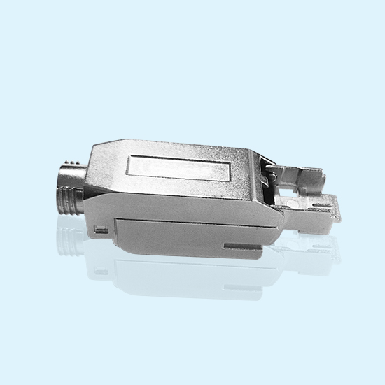 Zinc Alloy Customer Made Metal Housing Shell For Communication Connector