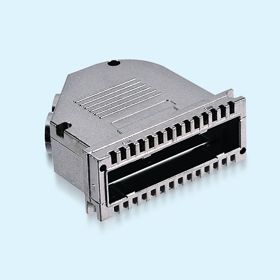 OEM D-Sub Zamak 5# die-casting connector enclosures applied in communication connectors