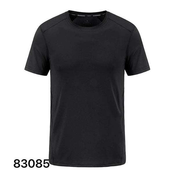 Hot new summer simple men's cotton and linen casual T-shirt moisture wicking and quick-drying breathable short sleeve 83085
