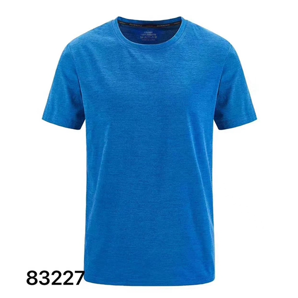 Hot new summer simple men's cotton and linen casual T-shirt moisture wicking and quick-drying breathable short sleeve 83327