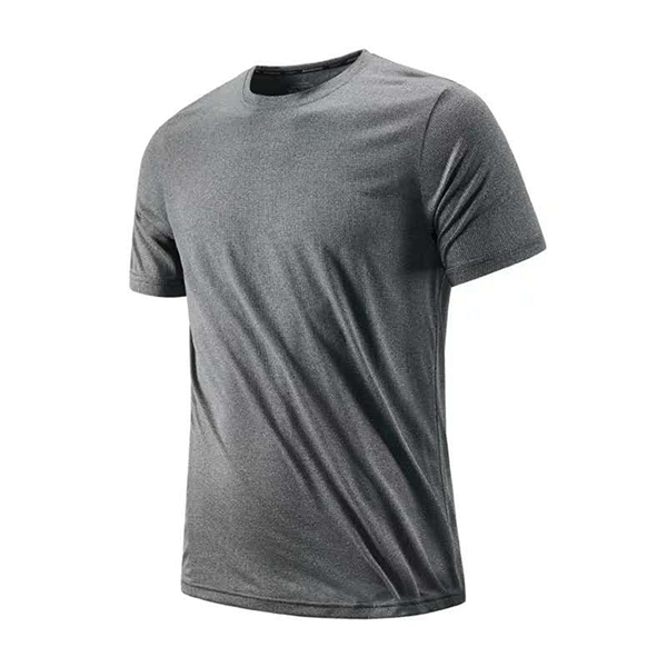 New summer men's simple and quick-drying ice silk thin and light breathable sweat perspiration sports leisure comfortable T-shirt
