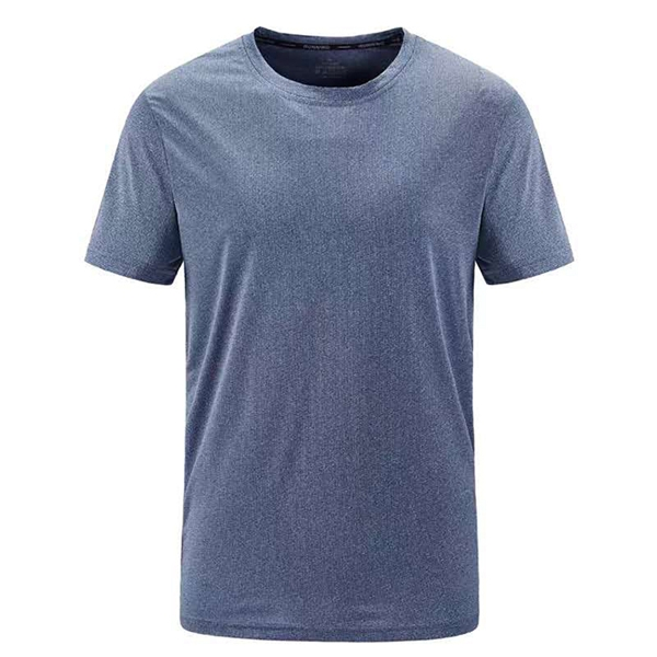 Summer new men's T-shirt simple and quick-drying ice silk light and breathable perspiration sweat sports leisure and comfort 83204