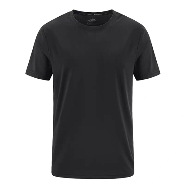 Summer new men's sports and leisure T-shirt stretch sweat absorption quick-drying ice cool breathable hot sale short sleeve