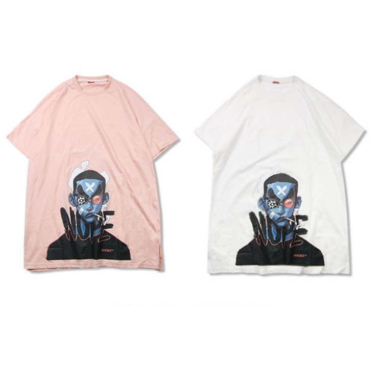 Summer Thin Hip Hop Tide Brand Loose Large Size Couple Five-point Sleeve Ins Short Sleeved Male T Shirt Tide