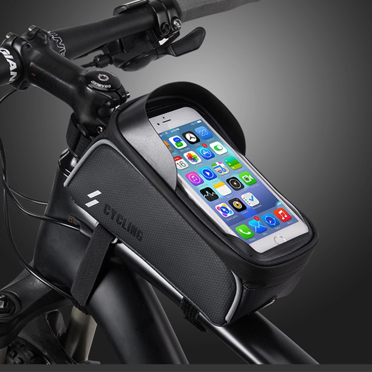 Bike Bag Water Repellent Touch Screen Upper Tube Beam Bag Road And Mountain Bike Riding Equipment