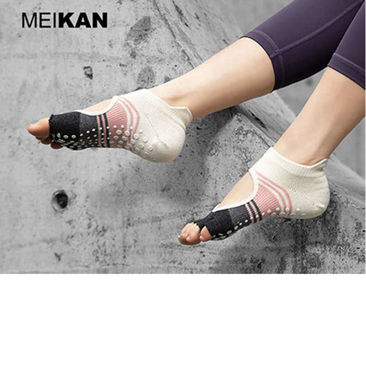 Yoga Socks Summer Beginner Professional Yoga Socks Short Tube Thin Dance Socks Pilates Socks Five-finger Non-slip Socks