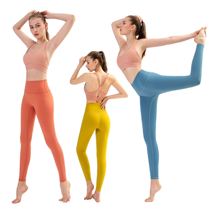 European And American High Waist Fitness Pants Women's Tight Sports Trousers Autumn And Winter Running Peach Hip Yoga Pants Quick-drying Yoga Clothes
