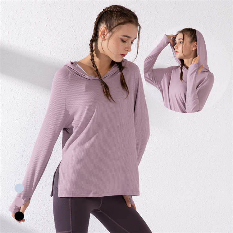 Women's plus size sports tops loose quick-drying clothes fitness clothes long-sleeved T-shirt autumn yoga clothes running blouse
