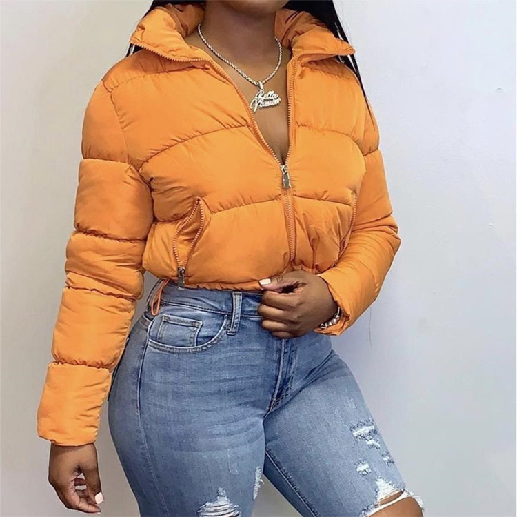 Winter new women's long-sleeved cardigan with stand-up collar to keep warm, casual fashion bread down jacket
