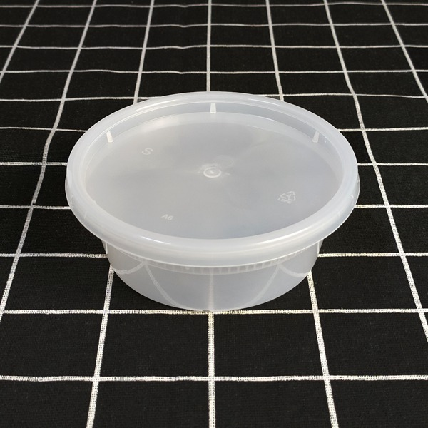 8oz Capacity Household Disposable Plastic Take Away Deli Cup Food Container