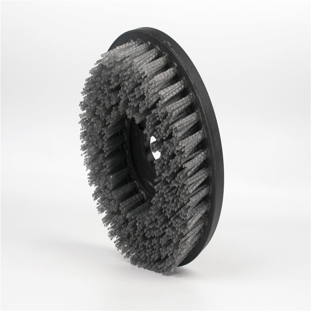 Durable Silicon Carbide Abrasive Nylon Disc Brushes For Cleaning Cylinder Head And Engine