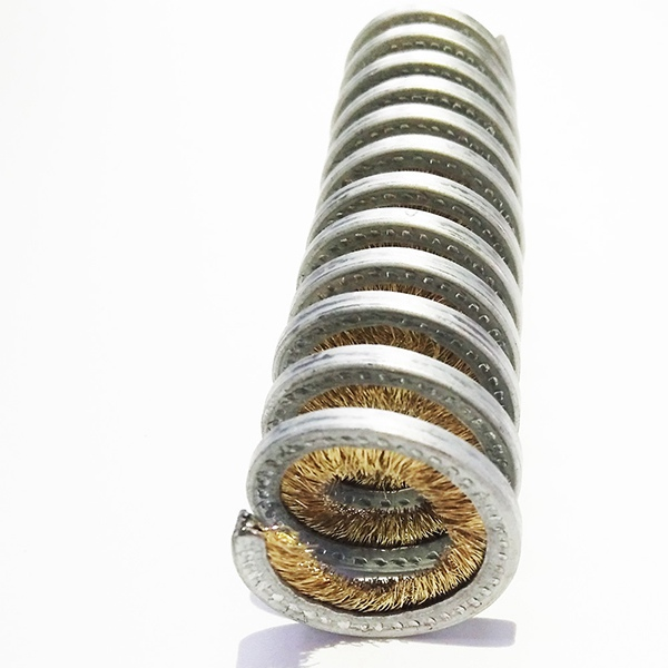 24 long inward spiral wound coil brushes