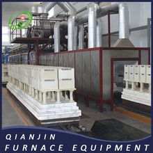 Tunnel Furnace Natural Gas Ceramic Tunnel Kiln 80 Meters