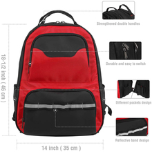Heavy-duty Tool Backpack With Padded Laptop Sleeve Multifunctional Organized Tool Bag Capacious Volume Tool Backpack
