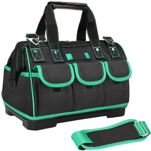Tool Bag Backpack With Adjustable Shoulder Strap,Suitable For Electrician, Woodworking Tool Storage Bag