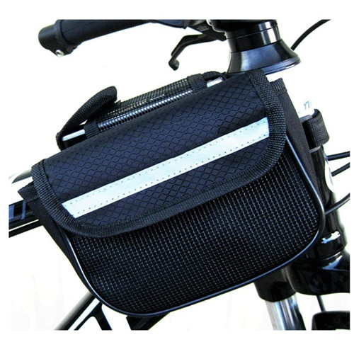 Wholesale Cycling Bicycle Pannier Bike Waterproof Bicycle Saddle Transportation Bag Bicycle Frame Pannier Front Tube Double-Sadd