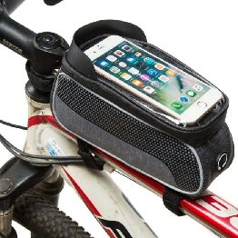 Frame Bike Bag With Waterproof Materials And Has Touch Screen Phone Case