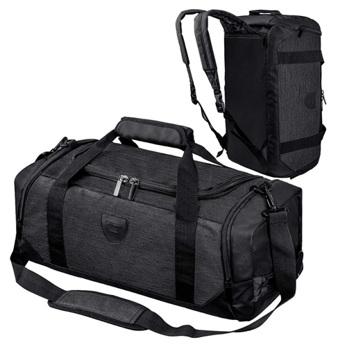 Weekender Duffel Bag Sports Gym Bag Portable Lightweight Shoulder Pack With Shoe Compartment