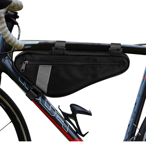 Bike Triangle Frame Bag Saddle Strap On Pouch For Cycling Top Tube Bicycle Storage Pouch