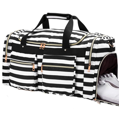 Hot Selling Carry On Travel Tote Bag With Shoe Compartment Cheap Waterproof Tote Travel Luggage Bags