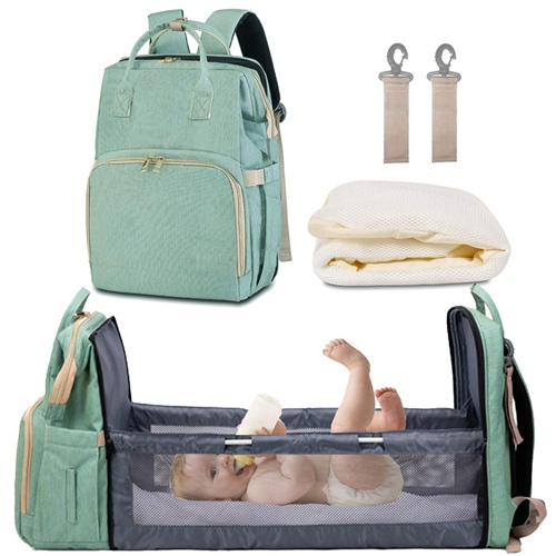 Diaper Bag with Bassinet, Mommy Travel Bag with Folded Bed, Diaper Backpack Nappy Bag Mommy Bag