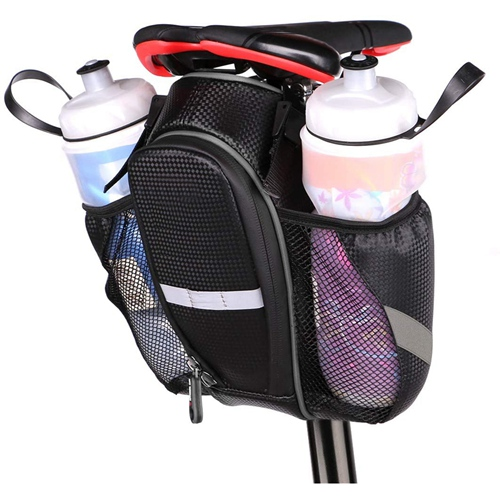 Mountain Road Bike Bag Waterproof Bike Seat Bag Pouch Water Bottle Holder Bicycle Saddle Bag