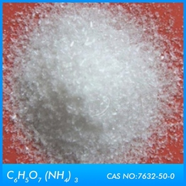 Chemical analysis  Ammonium Citrate