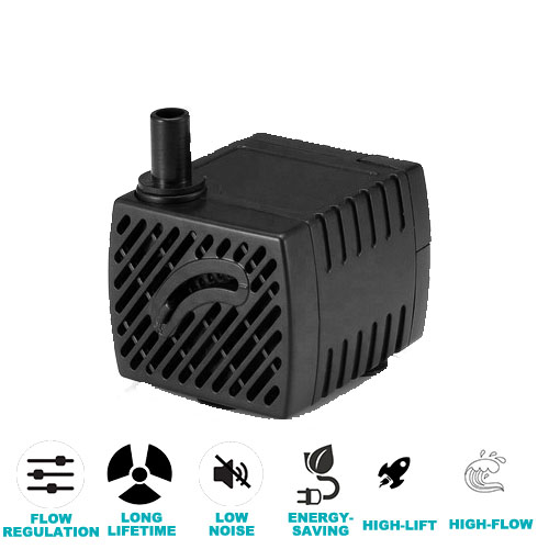 Jier 40GPH(150LPH) Submersible Pump Ultra Quiet for Fish Tank Fountain Aquarium