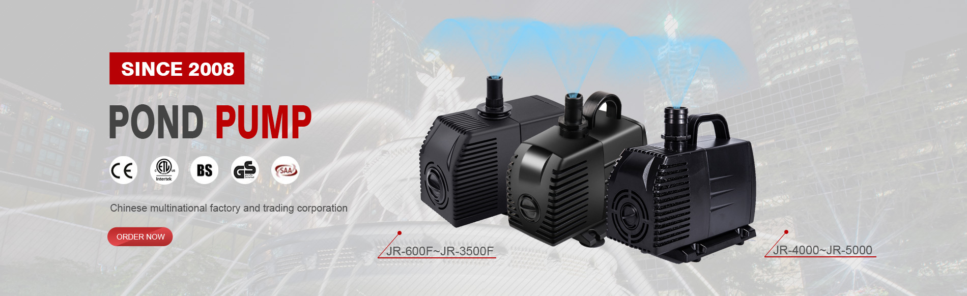 pond pump supplier
