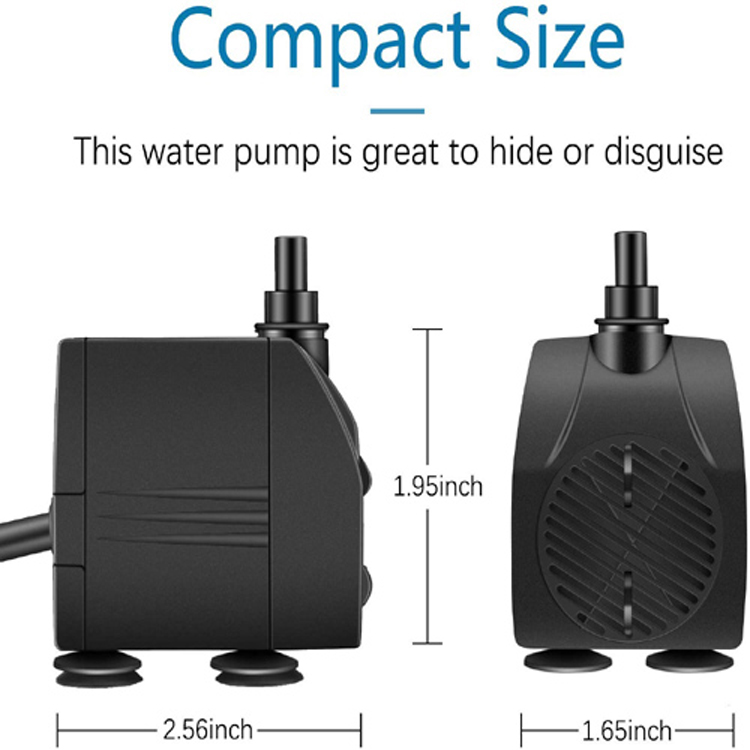 Hot Sale Factory Small Submersible Pump 450LPH for Fish Tank And Statuary