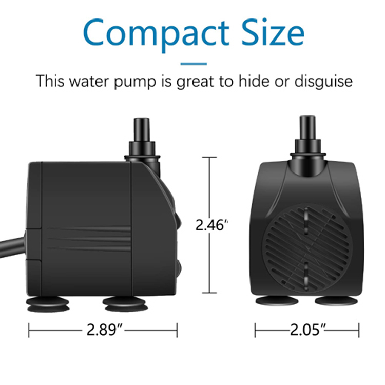 Factory Best Seller 200GPH Maximum Head 4.3FT Fountain Pump For Hydroponics System And Pond