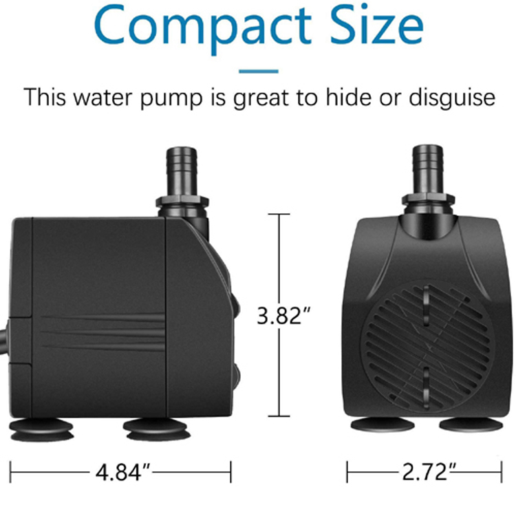Cost-effective Fountain Pump With 320cm Maximum Head  And 2000L/H Flow Rate