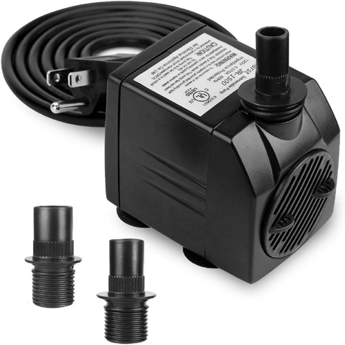 Fountain Pump 400GPH Maximum Head 98inch for Pond Use