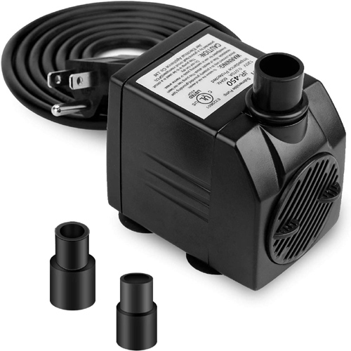 Small Submersible Pump 450LPH 120GPH for Fish Tank Statuary
