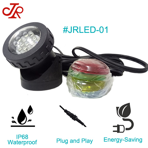 Plastic IP68 Waterproof Pond light Outdoor Small Underwater Spot Light