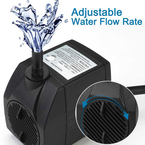 Pond Aquarium Hydroponics Waterfall Fountain Pump JR-3500