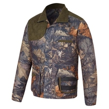 HM15004-1 Men's polyester camouflage printed knitted hunting jacket with pocket