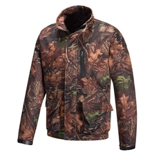 HM15007-1 Men's polyester camouflage printed woven softshell hunting jacket with pocket