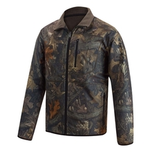 HM15011 Men's polyester camouflage printed knitted softshell hunting jacket with pocket